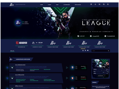 IPS 4.5 Theme [Template] for gaming forum ips invision art designer design photoshop webdesign gaming website league blue dark template theme gaming