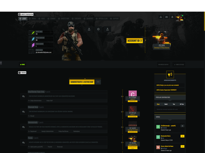 IPS 4.4 Theme [Template] for gaming #Ghost Recon Breakpoint nomad yellow dark gaming webdesigner webdesigns webdesign theme art design breakpoint recon ghost ghost recon breakpoint