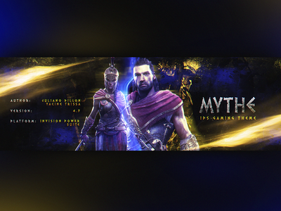 Mythe - Coming soon game blue webdesign designer dark new art gaming photoshop design