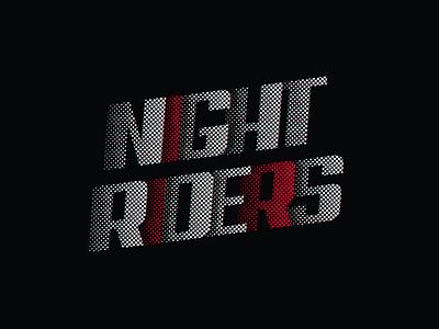 Night Riders Poster nfs needforspeed cars race typography illustration designer artist photoshop design riders night