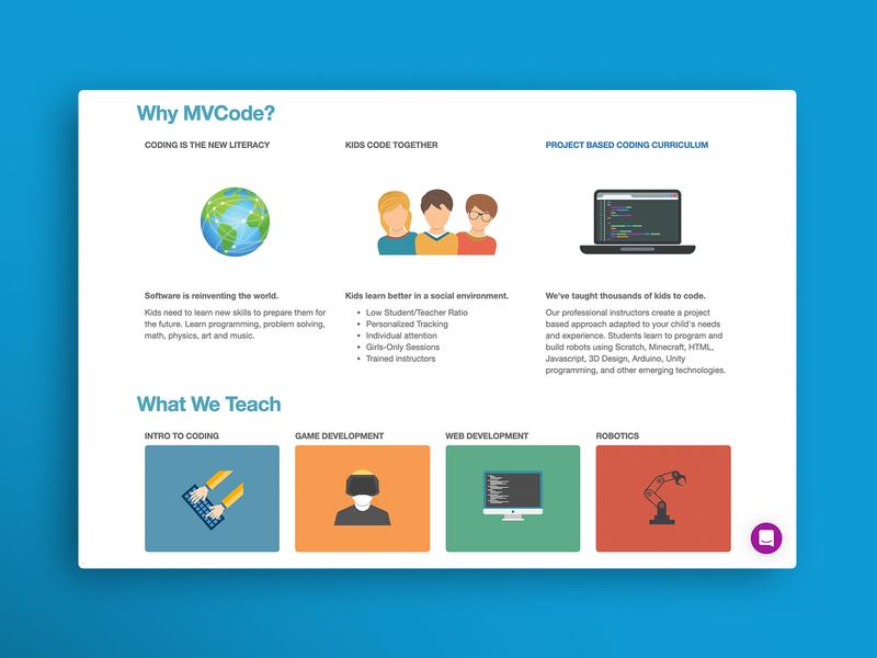 UX/UI Product Design for Kids Coding Program flat icon type identity website vector illustrator illustration web ux ui typography product minimal design branding
