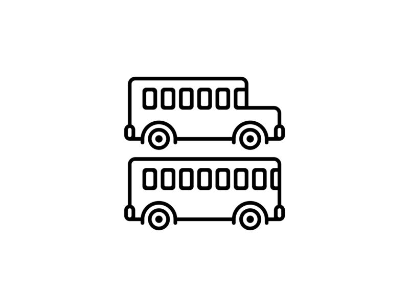 Skoolie Icon outline icon skoolie icon illustration