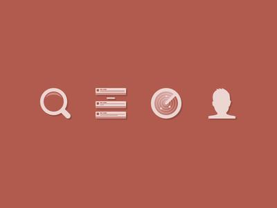 (somewhat) Flat Icons icons flat hybrid