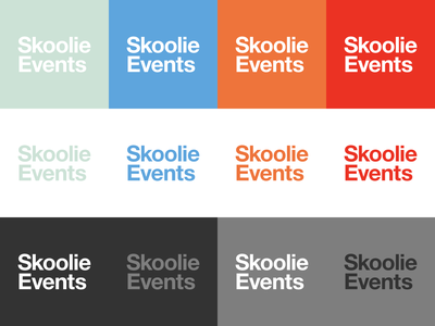 Skoolie Events Branding Color Exploration colors branding logo