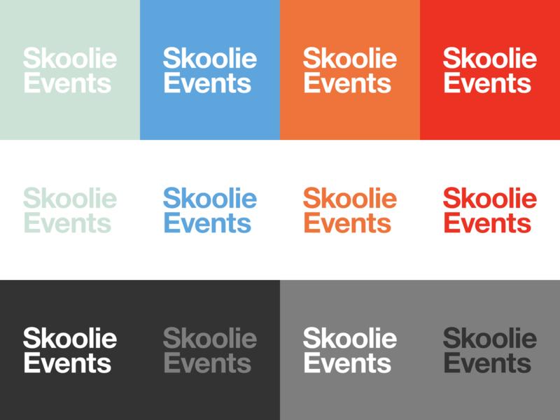 Skoolie Events Branding Color Exploration colors branding logo