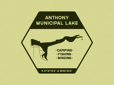 Anthony Municipal Lake Patch vector typography patch campground vintage