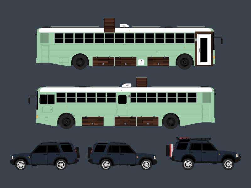 Vehicle Illustration sweetsweetbuslife skoolie land rover illustrator illustration