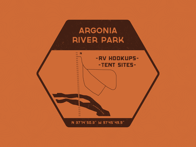 Argonia River Park Patch vintage vector typography patch campground