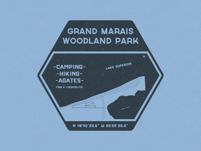 Woodland Park Patch illustrator vintage vector typography patch campground