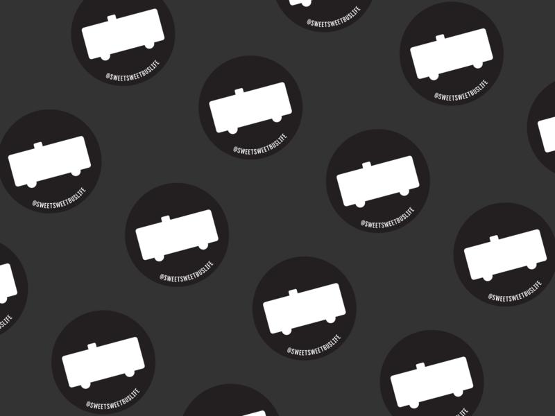 Sweet Sweet Buslife Icon Sticker skoolie icon branding sticker logo