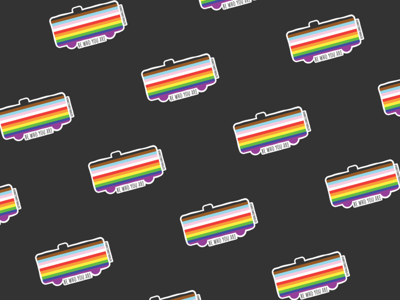 Be Who You Are Sticker sticker skoolie logo icon branding