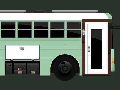 Skoolie Illustration / Animation for Website skoolie illustrator illustration animation after effects