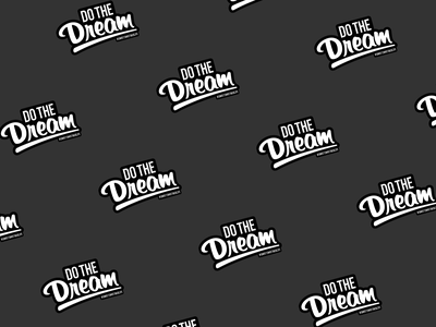 Do The Dream Sticker typography dream sticker branding