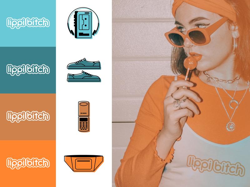 Lippi Bitch Brand Exploration (Revised) branding icon logo