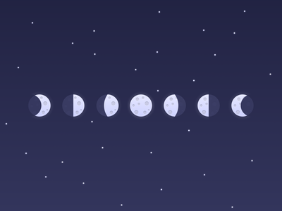 Moon Phases figmadesign illustration moon