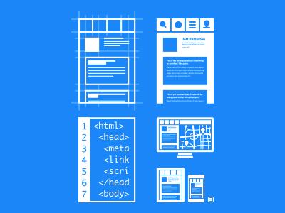 Process Illustrations v2 illustrations devise design develop deploy process flat