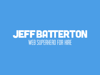 Web Superhero For Hire