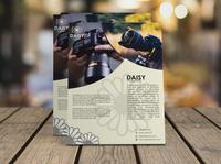 Flyer Design Daisy Photography