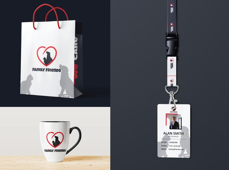 Family Friends Design Accessories family friends animal pet mug design mug mockup mug id card label bag ux ui vector clean brandind branding and identity graphic designer logo design graphic design brand