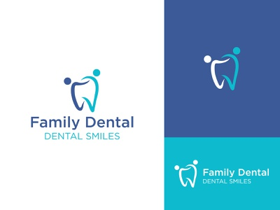 Family Dental Logo family dentist dental care teeth tooth dental vector minimal brandind clean logo branding and identity graphic designer logo design graphic design brand