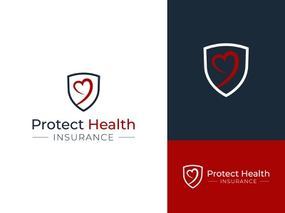 Protect Health Logo protection protect heart shield healthcare logo healthcare health vector minimal brandind clean logo branding and identity graphic designer logo design graphic design brand