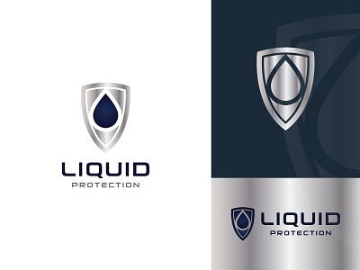 Liquid Protection Logo screen phone cellphone safe support shield logo shield protection protect liquid flat vector brandind clean logo branding and identity graphic designer logo design graphic design brand