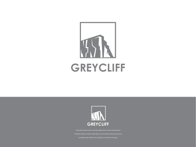 Greycliff Logo production company outdoor nature grey cliffs production abstract brandind clean logo branding and identity graphic designer logo design graphic design brand