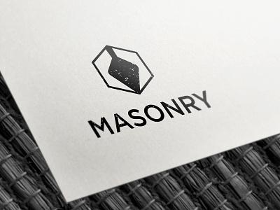Masonry Logo Design construction masonry vector minimal brandind clean logo branding and identity graphic designer logo design graphic design brand