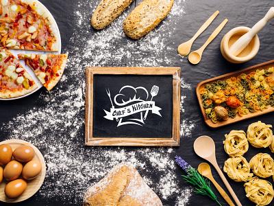 Chef's Kitchen Logo Design pizza chef hat chef logo chefs restaurant kitchen food and beverage food brandind clean logo branding and identity graphic designer logo design graphic design brand