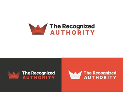 The Recognized Authority crown authority design clean logo branding and identity logo design graphic design brand