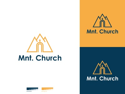 Church Logo logo designer cross minimal logo design dual meaning modern mountain religion church clean branding and identity graphic designer brand branding graphic design logo