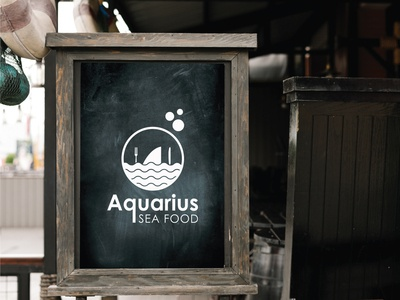 Aquarius Sea Food Logo Design