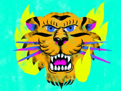Eye of the tiger character illustration