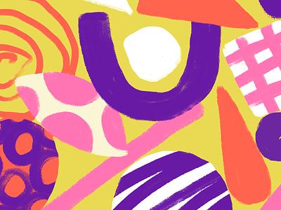 Mind at work - detail shapes texture illustration