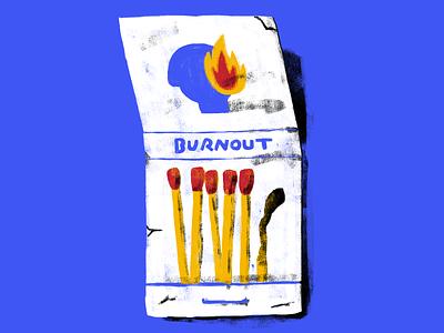 Burnout self care burnout illustration