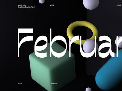 Graphica Display typeface free type font design calendar c4d typography sans serif