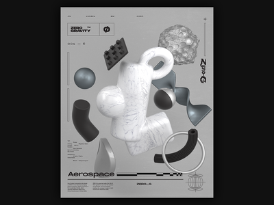 Aerospace 👨🏻🚀 Poster space c4d print 3d illustration poster render cinema 4d