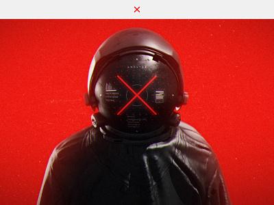 Futuristic Nomad journey astronaut branding concept design ui