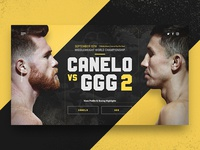 Canelo Vs GGG | Landing Page