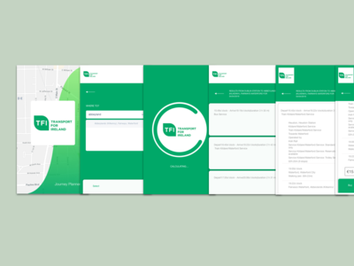 Transport for Ireland (TFI) Mobile App Concept