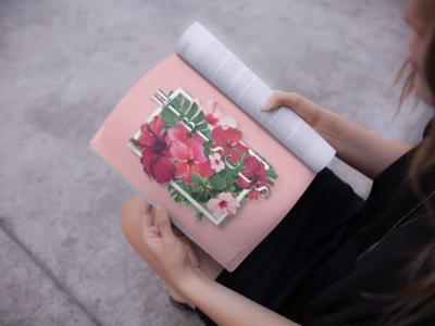 Hibiscus Flower Montage for Rosie Magazine