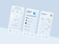 Neumorphism ux icon ui design app