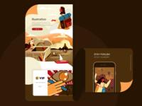 Illustration learning web illustrator illustration ui design