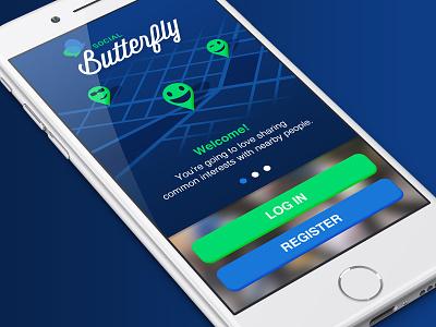 Mobile Butterfly mobile design app design