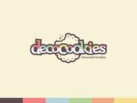DecoCookies playful fun cookie cafe bakery logo