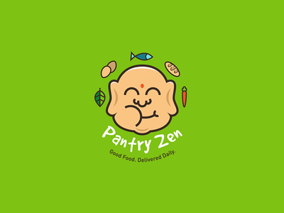 Pantry Zen buddha healthy food logo