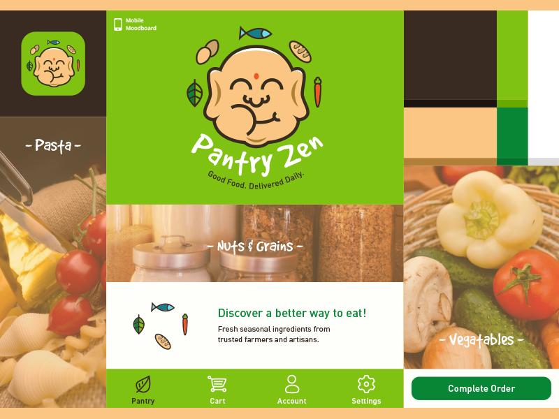 Pantry Zen Moodboard moodboard branding logo