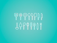 Kitchen icons kitchen tools icons utensils vector