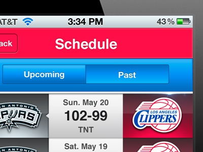 clippers app app ui iphone mobile sports personal project redesign