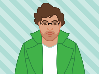 Self Portrait flat male graphic character icon face drawing color self portrait selfie portrait illustration
